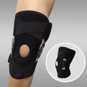 Open Hinged Knee Brace with Cross Straps China Wholesale Supplier